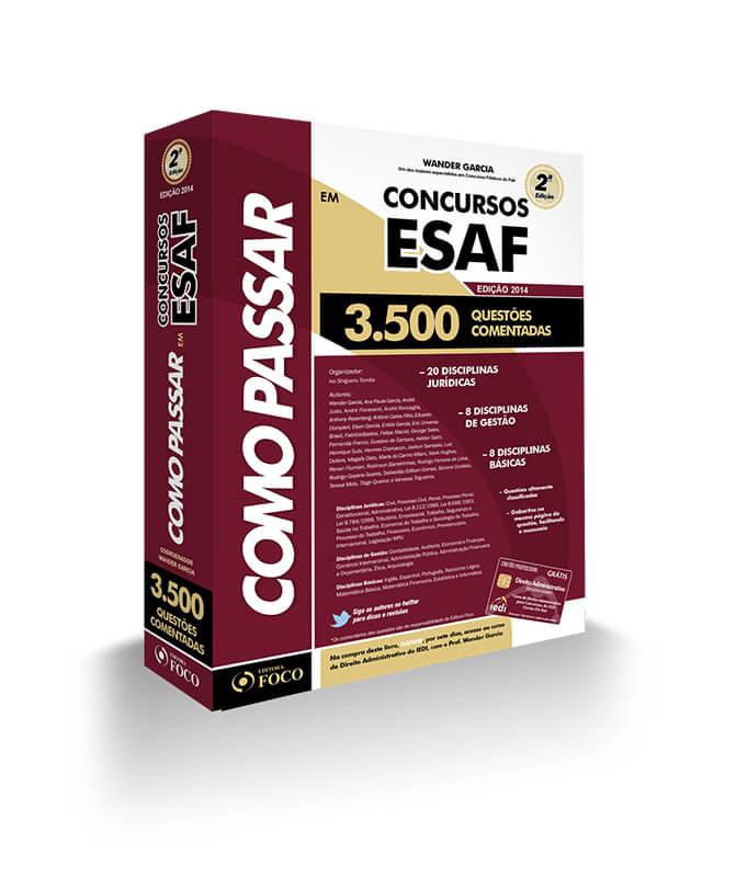 COMO PASSAR EM CONCURSOS  ESAF  - 3.500 QUESTÕES - 2ª ED - 2014