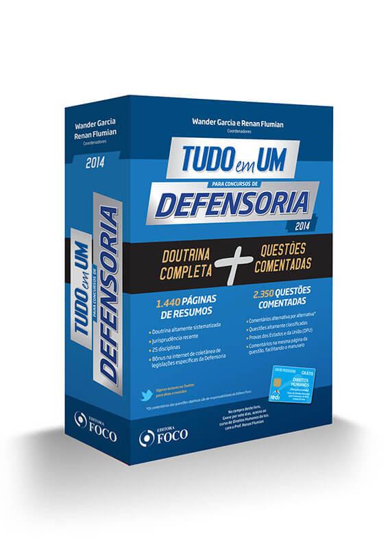 TUDO EM UM PARA CONCURSOS DE DEFENSORIA - 1ª ED. 2014