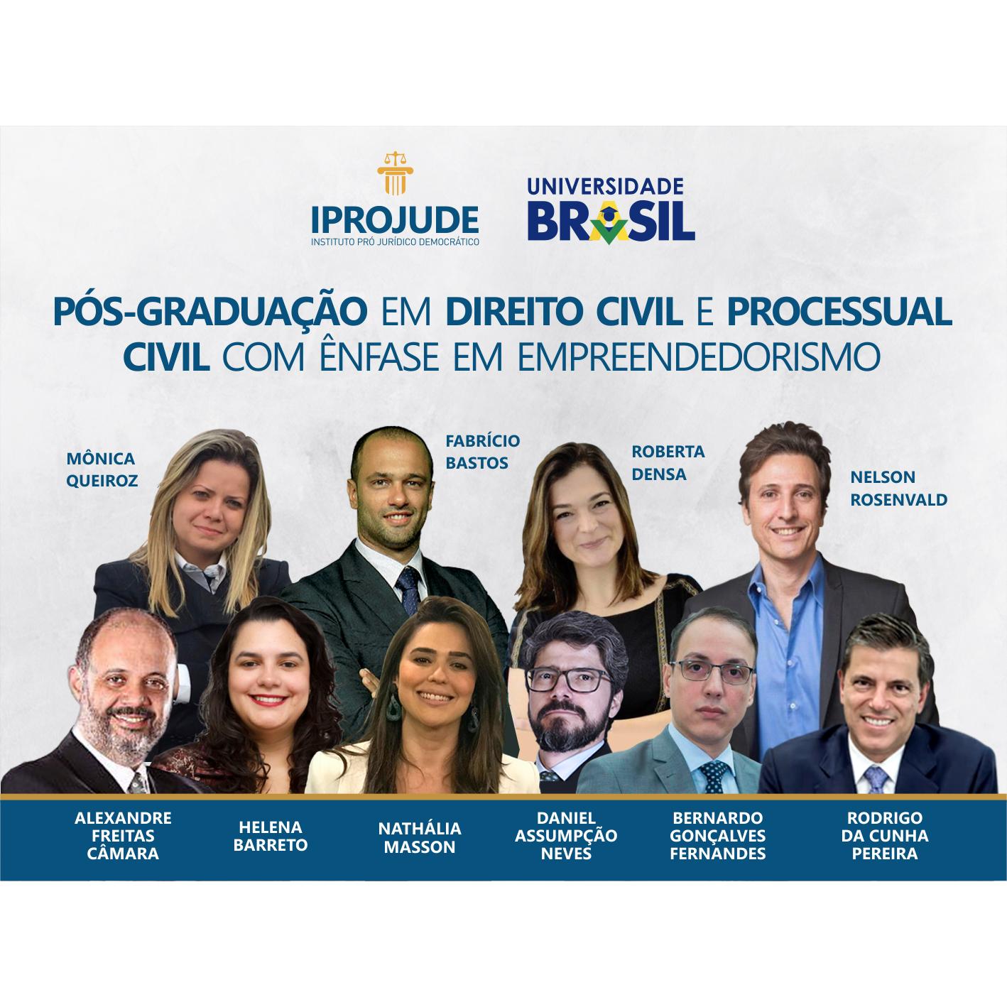 Pós-Graduação em Direito Civil e Processual Civil com ênfase em Empreendedorismo Jurídico - IPROJUDE